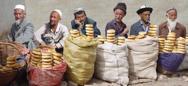 BREAD SELLERS - KASHGAR, CHINA
