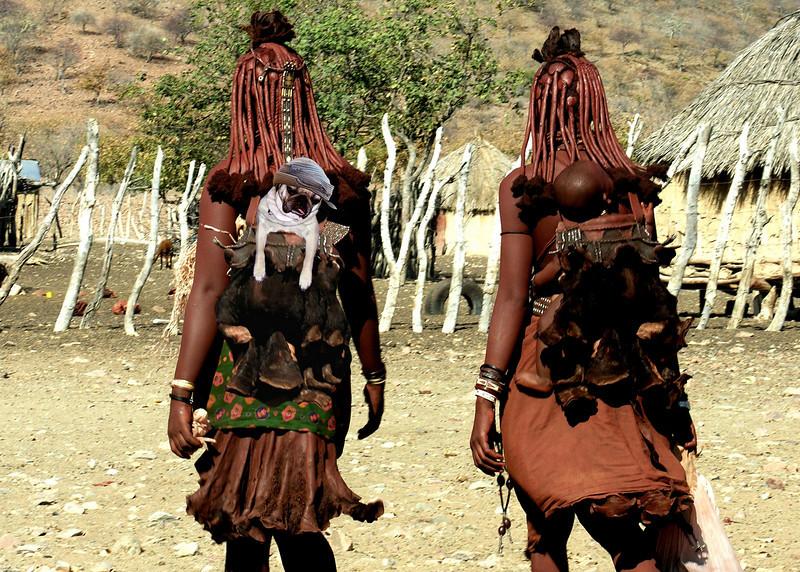 HIMBA BABIES - NAMIBIA