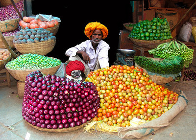 VEGETABLE MERCHANTS - JAIPUR, INDIA