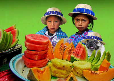 FRUIT SELLERS - TODOS SANTOS, GUATEMALA
