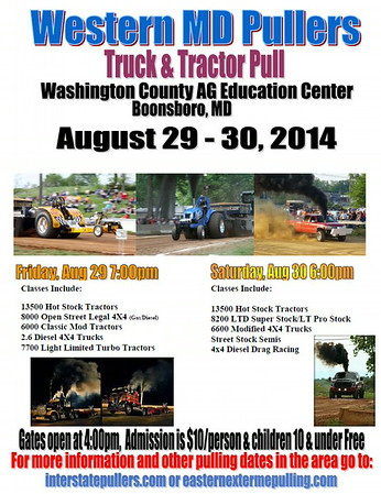 WESTERN MD PULLERS AG CENTER TRUCK & TRACTOR PULL 4X4  DIESEL DRAG RACING 8-30-14