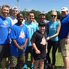 From the Boys & Girls Club, Tyler Schermerhorn and Lance Kaimachiande, both of Lowell, Artie Carew of Nashua, Ben Gacek of Dracut, Lindsey Georgoulis and Juan Carlos Rivera, both of Lowell, Kate Thoene of Chelmsford and executive director of the Boys & Girls Club of Greater Lowell Joe Hungler