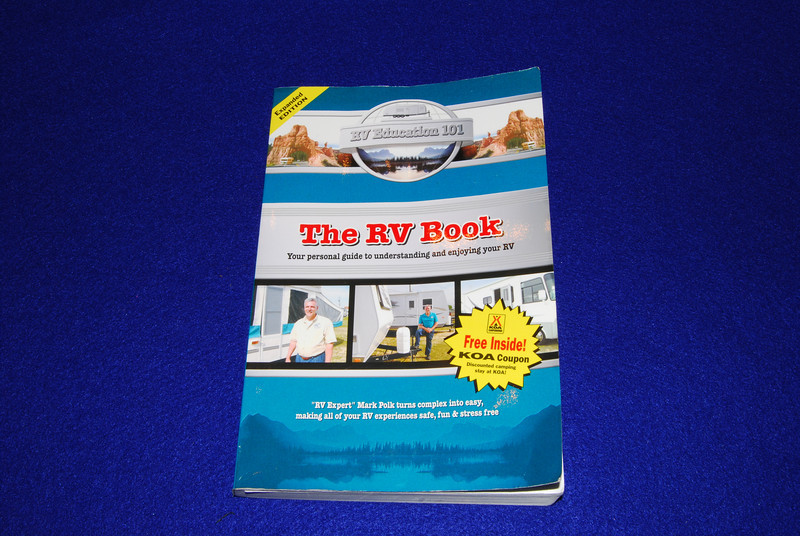 The RV Book by Mark Polk, 274 pages, $19.95, Score 25.  This was my first reference book and one that I had previously recommended to others.   I thought I would find a book that was more comprehensive but in the end this was the clear winner.  It has lots of pictures, diagrams and checklists.  This is the only general RV book that specifically discusses folding trailers in several sections.