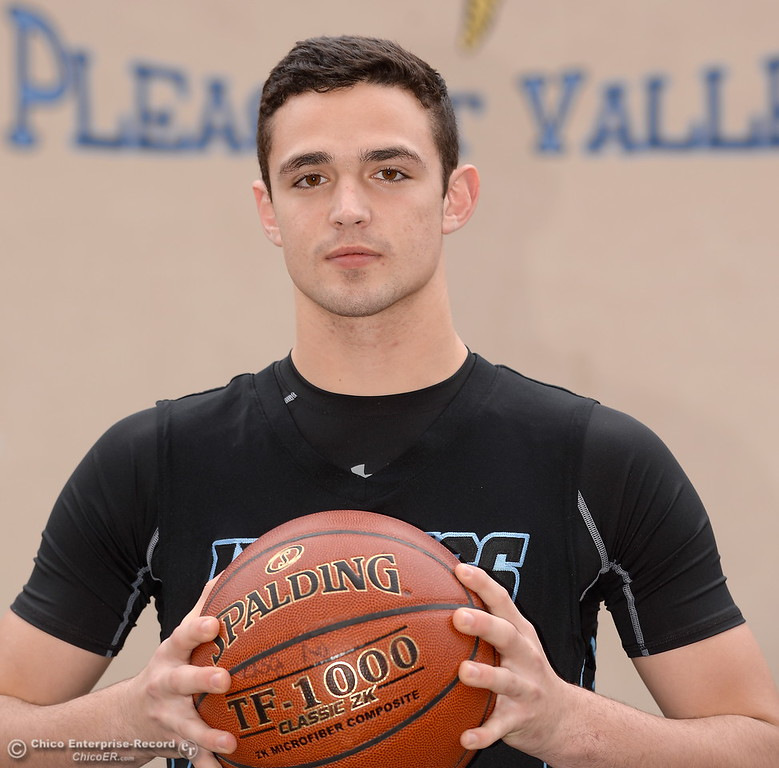 . Pleasant Valley High School boys basketball Player Jarin Polander Wednesday March 21, 2018.  (Bill Husa -- Enterprise-Record)