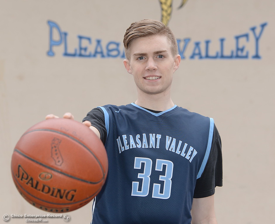 . Pleasant Valley High School basketball player Jake Rick Wednesday March 21, 2018.  (Bill Husa -- Enterprise-Record)