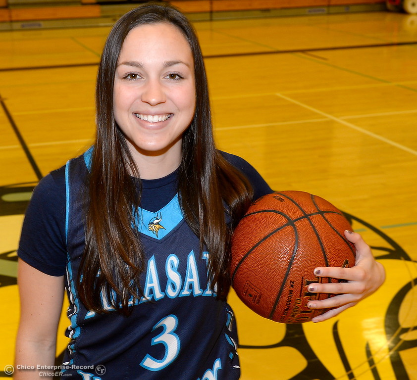 . Pleasant Valley High School girls basketball player Claire Garcia Wednesday March 21, 2018.  (Bill Husa -- Enterprise-Record)