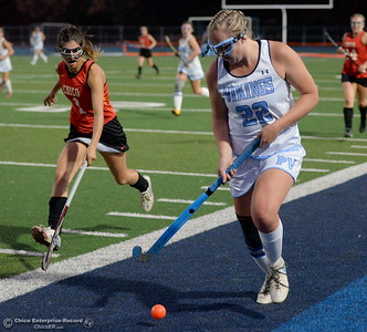 during PV vs Chico Field Hockey at Asgard Yard in Chico, Calif. Wed. Sept. 19, 2018.   (Bill Husa -- Enterprise-Record)