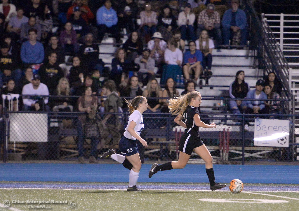 . during Chico High vs Pleasant Valley Girls soccer action at Pleasant Valley High School Wed. Feb. 7, 2018. (Bill Husa -- Enterprise-Record)