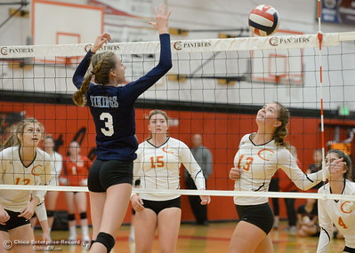 during PV vs Chico volleyball at Chico High Tuesday Oct. 2, 2018.   (Bill Husa -- Enterprise-Record)