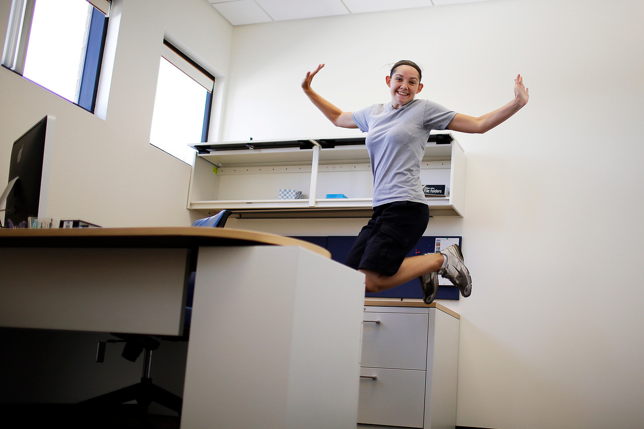Her own private office...I would jump of joy too, Congratulations Raechel.