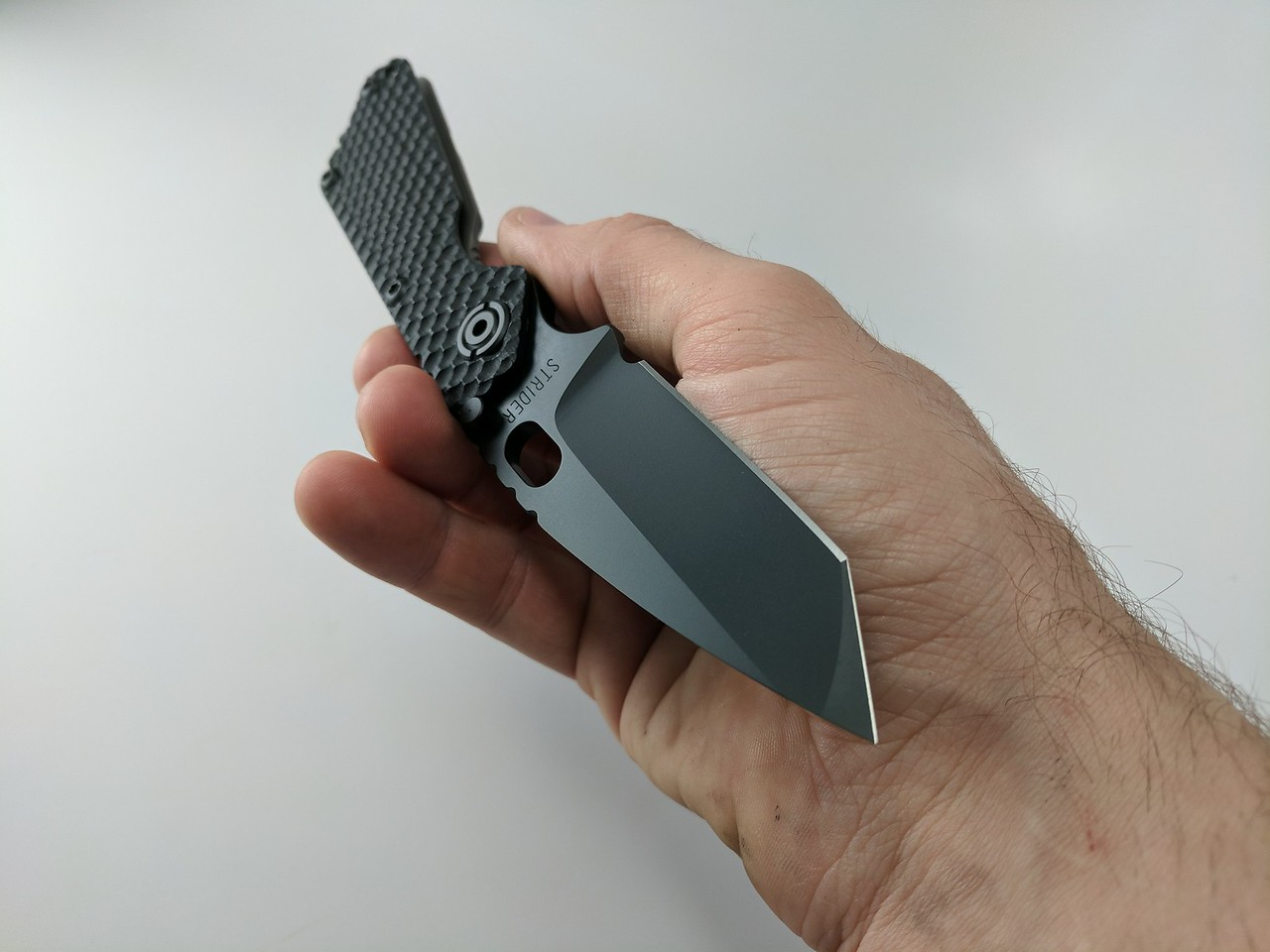 strider sng, smf, PVD, DLC coating, blacked out, murderered out, razor edge knives
