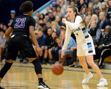 during PV vs ----- basketball at Pleasant Valley High School in Chico, Calif. Wed. March 7, 2018. (Bill Husa -- Enterprise-Record)