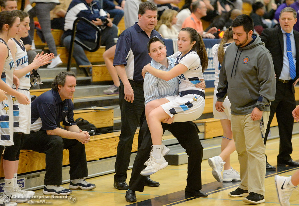 . during PV vs ----- basketball at Pleasant Valley High School in Chico, Calif. Wed. March 7, 2018. (Bill Husa -- Enterprise-Record)