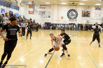 during PVHS vs ----- basketball at Pleasant Valley High School in Chico, Calif. Wed. March 7, 2018. (Bill Husa -- Enterprise-Record)
