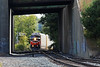 Train WOGR approaching the  tunnel under Rte 2 in Gardner, MA 2015 – Bob Arnold photo