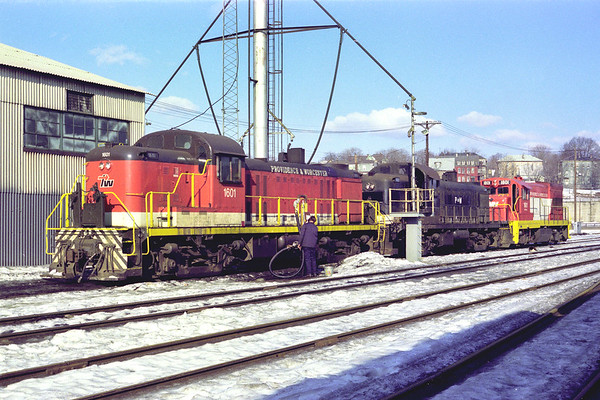 At the Worcester engine house  – Al Arnold photo