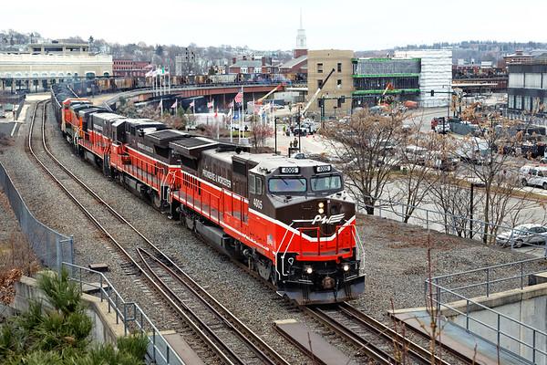 P&W coal train northbound up the Gardner Branch 2012 – Bob Arnold photo