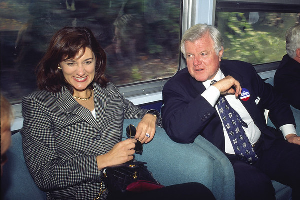 Ted and Vicky Kennedy among the many dignitaries who rode the P&W 1996 – Bob Arnold photo