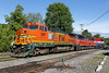 Mixed P&W power in Palmer, MA to pick up ethanol train 2015 – Bob Arnold photo