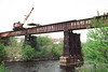 Re-decking the Woonsocket Trestle 1996 – Bob Arnold photo