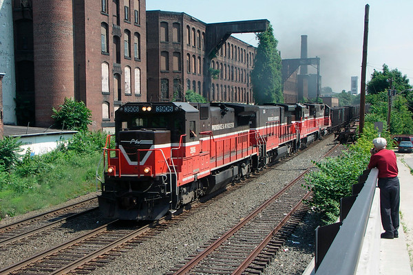 P&W coal train westbound out of Worcester on the B&A 2005 – Bob Arnold photo