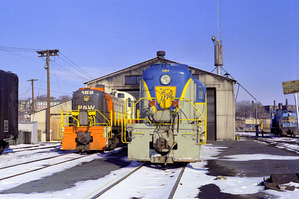 Early power at the P&W engine house - Al Arnold photo