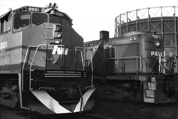 Old & new power in the Worcester yard - Al Arnold photo