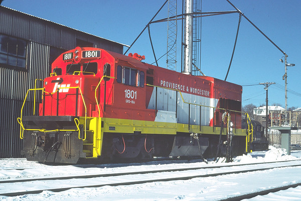 PW 1801 at the engine house – Al Arnold photo