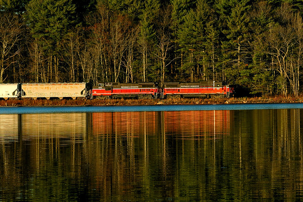 Train GRWO from across Moosehorn Pond in Hubbardston, MA 2016 – Bob Arnold photo