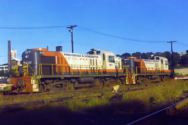 Engines 161 and 164 at the engine house - 1973 - Al Arnold photo