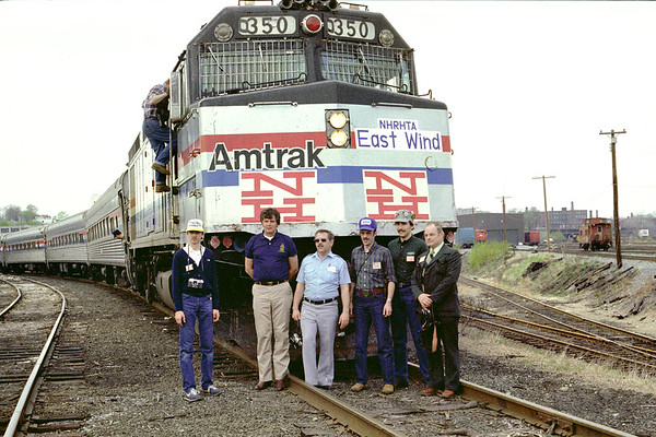 NH excursion in the P&W yard 1983 – Al Arnold photo