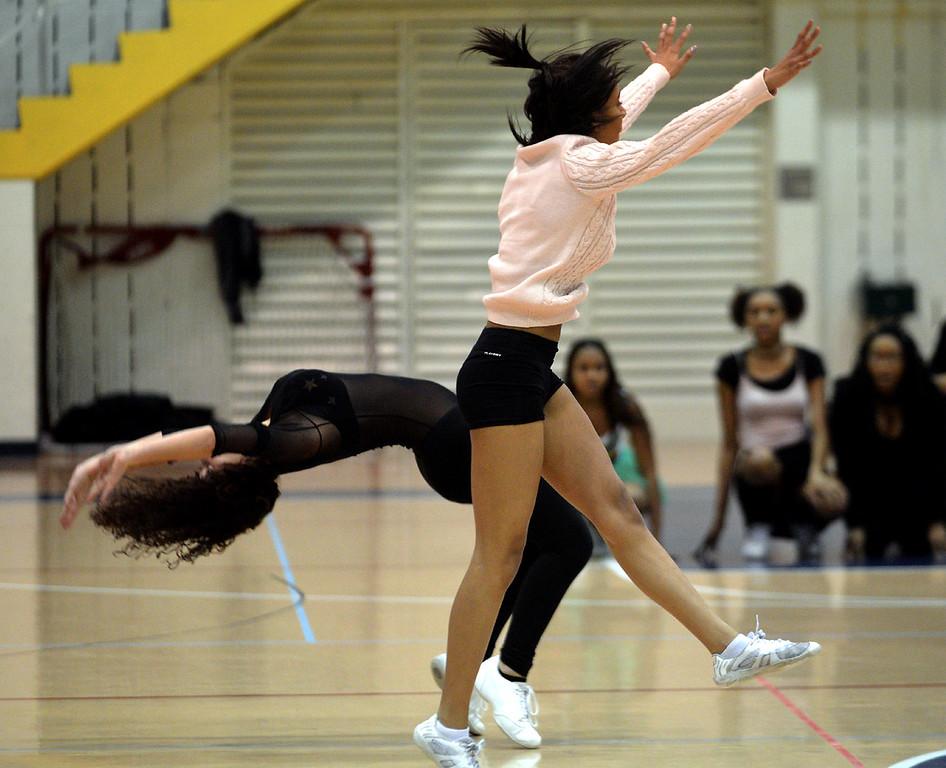 . Wissahickon cheerleaders tumble.  (Bob Raines/Digital First Media)