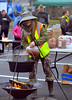Deb Rodgers adds apple cider to her pot at the Hatfield Fire and Ice Festival Jan. 21, 2017.  (Bob Raines--Digital First Media)