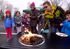 Young people toast marshmallows and hobo pies at the Hatfield Fire and Ice Festival Jan. 21, 2017.  (Bob Raines--Digital First Media)