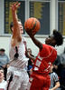 Cameron Thompson (Academy of New Church) puts up a shot past Kyle McCloskey (Germantown Academy) Feb. 15, 2017.  (Bob Raines--Digital First Media)