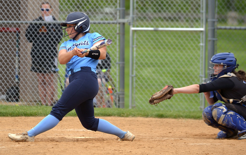 . North Penn\'s Bri Battavio at bat against Central Bucks South May 11, 2017.  (Bob Raines/Digital First Media)