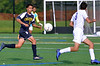 Andrew Moreland (Cheltenham) moves to prevent a shot by Louis Knoebel (Upper Moreland) Sept. 12, 2017. / Bob Raines--Digital First Media