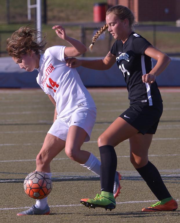. Pennridge at Souderton girls soccer Oct. 10, 2017.  / Bob Raines--Digital First Media