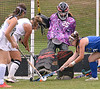 Lansdale Catholic's Lindsay Currie takes a shot at Conwell-Egan goal keeper Hannah Calderone Oct. 11, 2017. / Bob  Raines--Digital First Media