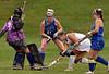 Conwell-Egan goal keeper Hannah Calderone blocks a shot by Lansdale Catholic's Hailey Gianoni Oct. 11, 2017. / Bob Raines--Digital First Media