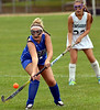 Conwell-Egan's Kerry Morris knocks down the ball during the game at Lansdale Catholic Oct. 11, 2017. / Bob Raines--Digital First Media