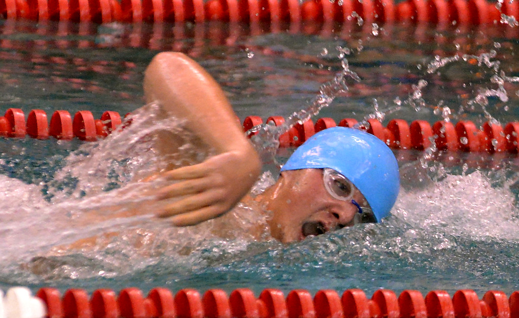 . North Penn\'s William Klein swims the 200 freestyle against St. Joe\'s Prep Dec. 12, 2017. (Bob Raines/Digital First Media)