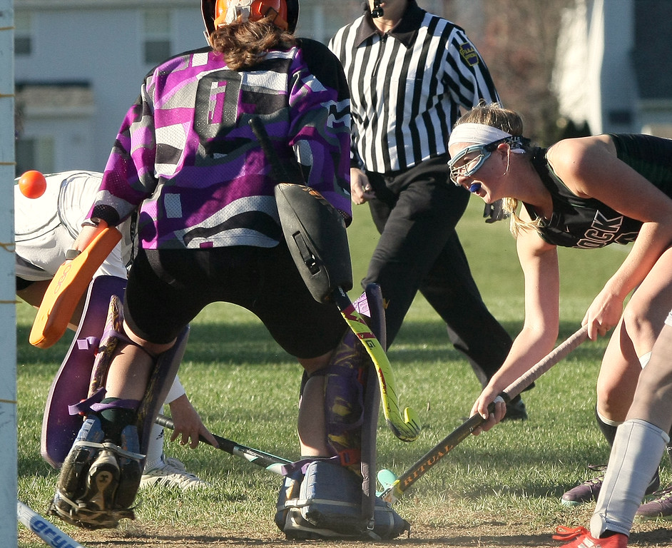 . Kate Strickland (Christopher Dock) takes a shot past goal keeper Clare Crotty (Lansdale Catholic)  Nov. 4, 2016.   |   Bob Raines--Digital First Media