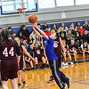 KRISTOPHER RADDER — BRATTLEBORO REFORMER<br /> Students from Hinsdale, N.H., Middle High School cheered on the Pacers' unified basketball team as they hosted Fall Regional Mountain during the first home game of the year on Friday, Jan. 3, 2020. According to the Special Olympics website, Unified Sports is also an integral part of Special Olympics Unified Champion Schools, which was founded in 2008 and funded through the U.S. Office of Special Education Programs at the U.S. Department of Education to use Special Olympics as a way to build inclusion and tolerance in schools.