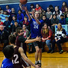 KRISTOPHER RADDER — BRATTLEBORO REFORMER<br /> Hinsdale N.H.'s Alan Nadeau takes an attempt at the basket against Fall Mountain Regional School during a unified basketball at the Hinsdale Middle High School on Friday, Jan. 3, 2020. According to the Special Olympics website, Unified Sports is also an integral part of Special Olympics Unified Champion Schools, which was founded in 2008 and funded through the U.S. Office of Special Education Programs at the U.S. Department of Education to use Special Olympics as a way to build inclusion and tolerance in schools.
