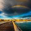 Double Rainbow over Crystal Pier