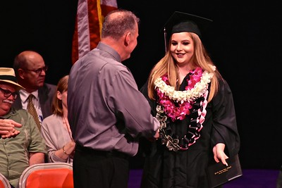Faith L. Wall receives her Pacific Coast High School diploma. (Jose Quezada — For the Times-Standard)