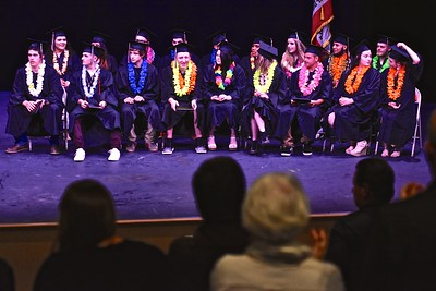 A standing ovation for the graduates of Pacific Coast High School.  (Jose Quezada — For the Times-Standard)