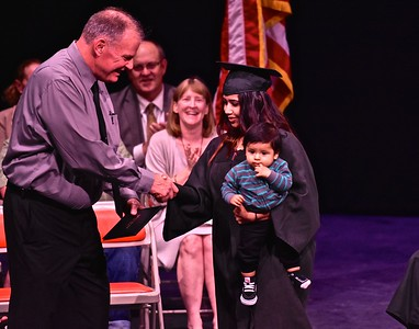 Pacific Coast High School held its graduation ceremony Tuesday evening in the Fine Arts Center at Arcata High School.  (Jose Quezada — For the Times-Standard)