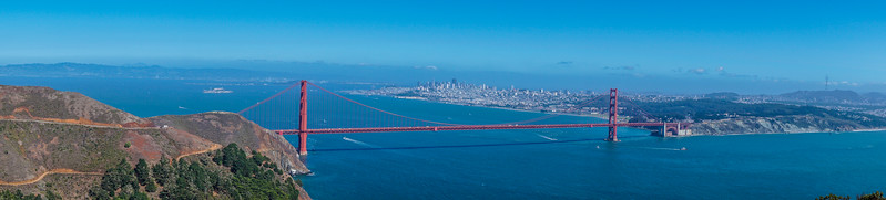 Panoramic Golden Gate Bridge
